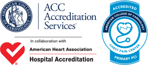 Chest Pain Center And PCI Accreditation Logos